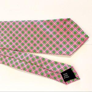 RALPH LAUREN 💯 Silk Tie In Pink & Green